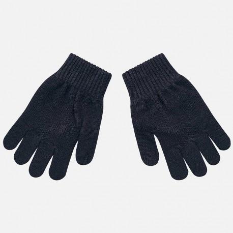 Rękawiczki z pięcioma palcami gładkie dla chłopca Mayoral 10687-44 Granatowy