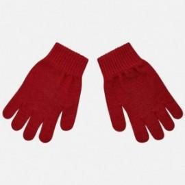 Rękawiczki z pięcioma palcami gładkie dla chłopca Mayoral 10687-45 Bordo