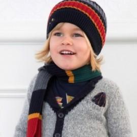 Komplet czapka i szalik w paski dla chłopca Mayoral 10695-56 Stal