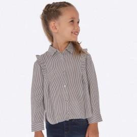 Bluzka elegancka z kołnierzykiem w paski dla dziewczynki Mayoral 4107-19