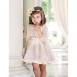 Sukienka elegancka z koronki dla dziewczynki Abel & Lula 5002-3 Kość słoniowa