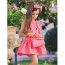 Sukienka wizytowa żakard dla dziewczynki Abel & Lula 5019-7 Arbuzowy