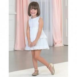Sukienka wizytowa dziewczęca Abel & Lula 5026-1 Biała
