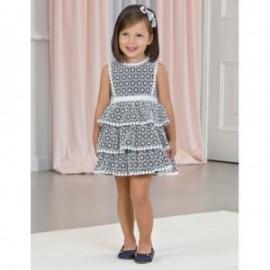 Sukienka z koronką dla dziewczynki Abel & Lula 5053-3 Granat