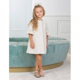 Płaszcz elegancki z połyskiem dla dziewczynki Abel & Lula 5308-20 krem