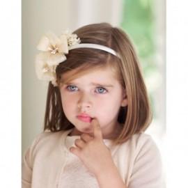 Opaska w kwiaty rafia dla dziewczynki Abel & Lula 5418-2 Krem