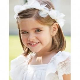 Opaska do włosów korona dla dziewczynki Abel & Lula 5420-51 Krem