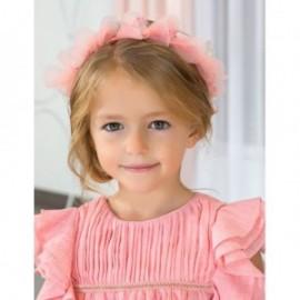 Opaska do włosów korona dla dziewczynki Abel & Lula 5420-52 Koralowy