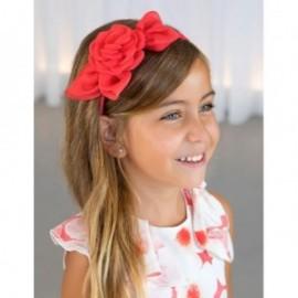 Opaska róża organza dla dziewczynki Abel & Lula 5425-7 Arbuzowy