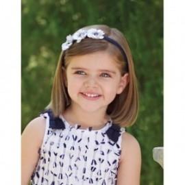 Opaska z kwiatową aplikacją dla dziewczynki Abel & Lula 5433-3 Granat