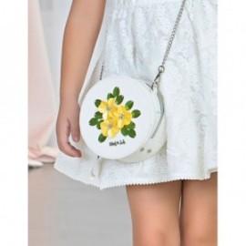 Torebka cekinowe kwiaty dla dziewczynki Abel & Lula 5442-1 Biały