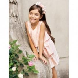 Sukienka wizytowa falbanki koronka dla dziewczynki Abel & Lula 5012-5 róż