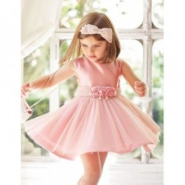 Sukienka elegancka dla dziewczynki Abel & Lula 5018-5 róż