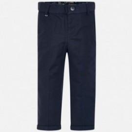 Mayoral 3514-72 Spodnie chłopięce lniane granatowe