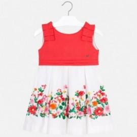 Mayoral 3935-96 Sukienka dziewczęca koralowa