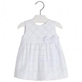 Mayoral 1929-56 Sukienka w kratę devore Biały
