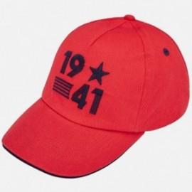 Mayoral 10583-55 Czapka z daszkiem chłopięca Czerwona