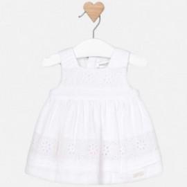 Mayoral 1827-10 Sukienka dziewczęca biała