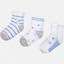 Mayoral 9015-67 Komplet 3 pary skarpetek niemowlęcych Niebieski