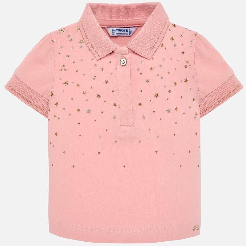 Mayoral 1108-41 Koszulka polo dla dziewczynek różowa