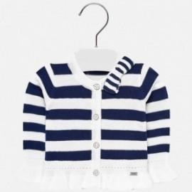 Mayoral 1307-76 Sweter rozpinany dla dziewczynki w paski