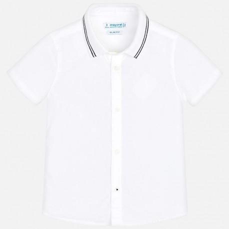 Mayoral 3128-83 Koszula k/r z lamówką dziecięca Biały