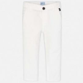 Mayoral 512-42 Spodnie klasyczne serża dziecięce Białe