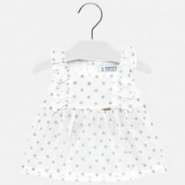 Mayoral 1110-84 Bluzka dziewczęca w groszki kolor biały