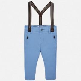Mayoral 1524-36 Spodnie chinos z szelkami chłopięce Niebieskie