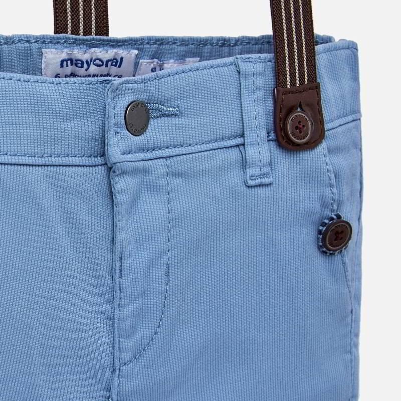 Mayoral 1524 36 Spodnie chinos z szelkami dla dzieci Niebieskie