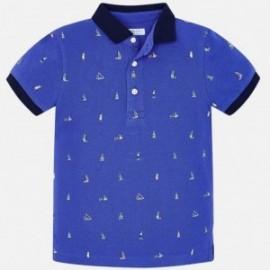 Mayoral 3112-45 Koszulka polo k/r chłopięca Niebieska