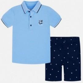 Mayoral 3245-12 Komplet bermudy i koszulka dla chłopca Granat