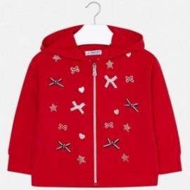 Mayoral 3412-66 Bluza dziewczęca kolor czerwony