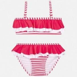 Mayoral 3711-45 Bikini w paski dla dziewczynki Różowy