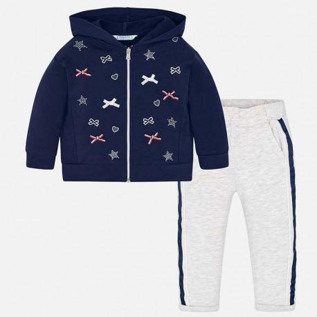 Mayoral 3807-80 Dres bluza i spodnie dziewczęcy granat