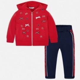Mayoral 3807-79 Dres bluza i spodnie dziewczęcy czerwony