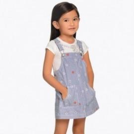 Mayoral 3904-5 Spódnica dziewczęca ogrodniczka z haftem kolor Jeans