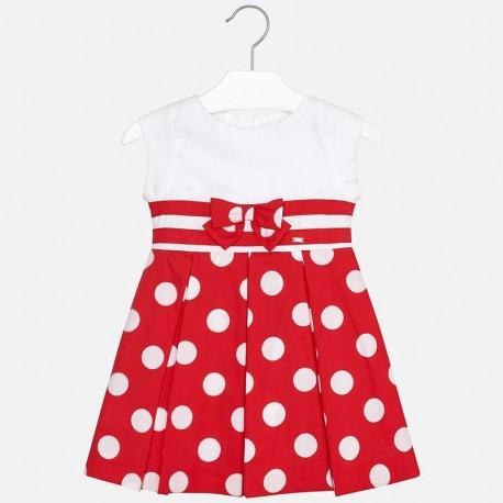 Mayoral 3938-86 Sukienka dziewczęca elegancka na ramiączkach czerwona