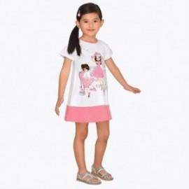Mayoral 3945-76 Sukienka codzienna dla dziewczynki Różowa