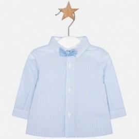 Mayoral 1106-57 Koszula d/r z muszką chłopięca Błękitny