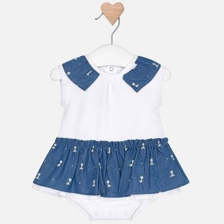 Mayoral 1803-90 Pajacyk spódniczka dla dziewczynki kolor niebieski