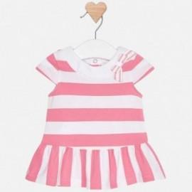Mayoral 1814-45 Sukienka w paski niemowlęca Róż