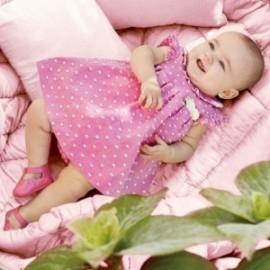 Mayoral 1828-83 Sukienka z haftem niemowlęca Róż