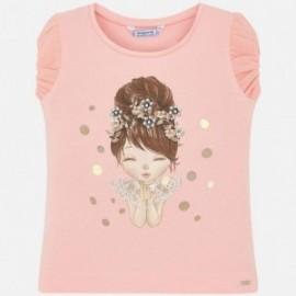 Mayoral 3008-91 bluzka dziewczęca bawełniana różowa