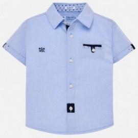 Mayoral 1127-91 Koszula k/r elegancka chłopięca Błękitny