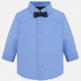 Mayoral 1132-91 Koszula d/r z muszką chłopięca Niebieski