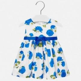 Mayoral 1934-72 Sukienka z różyczkami dziecięca Niebieska