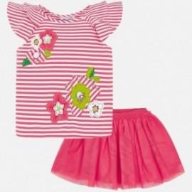 Mayoral 3960-49 Komplet bluzka i spódnica dla dziecka Różowy