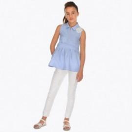 Mayoral 6504-60 Spodnie długie z dżetami dziewczęce Białe