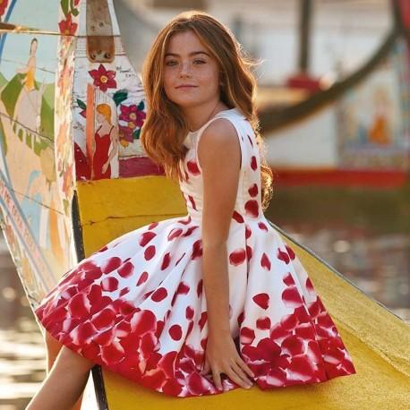 Mayoral 6911-65 Sukienka dziecięca Czerwona